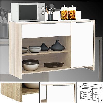 Küchenschrank 228 AKAZIE-weiss Schrank Küchenregal Küchenmöbel Singleküche Holz
