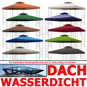 pavillondach wasserdicht option ersatzdach ersatz dach wasserfest pvc 3x3m ebay. Black Bedroom Furniture Sets. Home Design Ideas