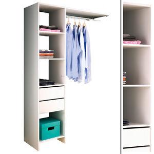 kleiderschrank 5578 offen begehbar regal kleiderst nder schrank wei garderobe ebay. Black Bedroom Furniture Sets. Home Design Ideas