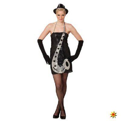 Kostüm Saxophon Gr. 34 Kleid mit Musik Instrument Karneval Fasching