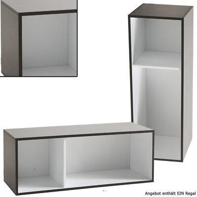 Stapelbar REGAL 411 schwarz weiß Bücherregal Büroregal Standregal CD DVD Tisch - Büro Stapeln Bücherregal