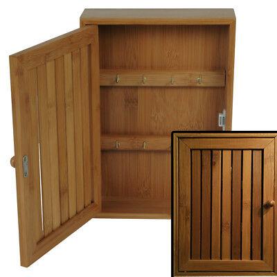 Bambus Schlafzimmer Schrank (Schlüsselkasten BAMBUS Holz Schlüsselschrank Keyholder Schlüsselbrett Tresor NEU)