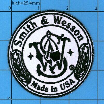 Smith & Wesson Morale Patch Iron on Firearms Guns Pistol Safe Handgun Police