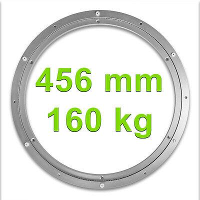 Drehkranz Ø 456mm 160kg Aluminium Drehlager Drehteller Drehscheibe Lenkkranz Alu