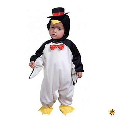 Baby Kostüm Pinguin Peppe Gr. 86 Overall Fasching Tierkostüm - Pinguin Baby Kostüm