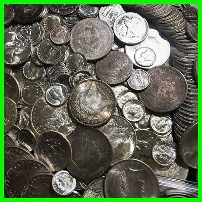 90  Silver Mint Us Coins  Old Estate Sale Lot Oz Hoard  Pre 1964 Bullion Gold