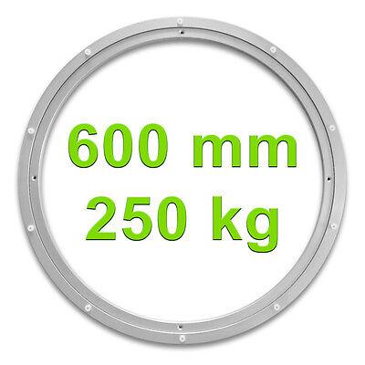 Drehkranz Ø 600mm 250kg Aluminium Drehlager Drehteller Drehscheibe Lenkkranz Alu
