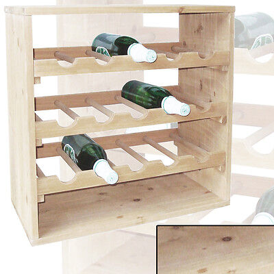 Weinregal PFALZ massiv Holz stapelbar erweiterbar f.~15 Weinflaschen Regalsystem