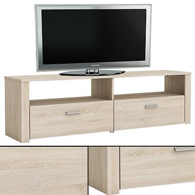 Tv-bank (TV-Bank BRAVA #449 Sonoma EICHE mit STRUKTUR !! TV Tisch Phonomöbel HiFi Schrank)