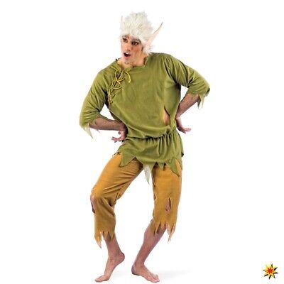Kostüm Elfenkönig inkl. Perücke Märchen Fasching Waldelfen (Märchen Kostüm Perücke)
