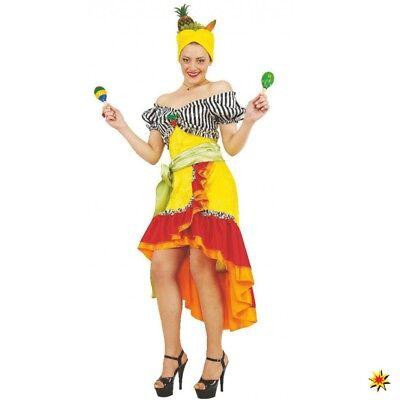 Kostüm Samba Tänzerin Gr. M  Damen Kleid Karneval Rio Brasilien - Samba Kostüm Brasilien