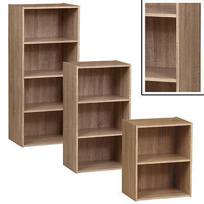 2 Regal Bücherregal Eiche (REGAL TUBE Sonoma Eiche 2/3/4 Fächer Standregal Bücherregal Badregal Büroregal)