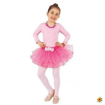 Rock mit Blumen Gr. 104 bis 116 Tutu für Ballerina Kostüm Fasching Ballerina Tutu Rock