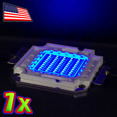 1x 50w Bright Blue Led 465nm High Power 2000lm 32v 50 Watt Lamp