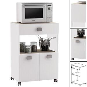k chenwagen 145 akazie weiss k chentrolley schublade k chenschrank k chenhelfer ebay. Black Bedroom Furniture Sets. Home Design Ideas