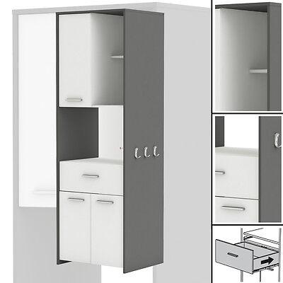 Hochschrank COUSINE 817 Küchenschrank Küchenregal Buffetschrank weiß grau