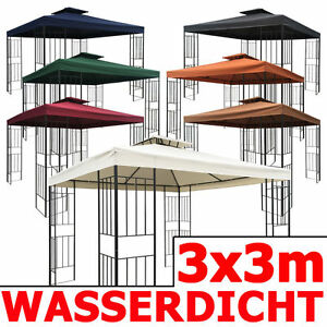 wasserdicht pavillon borneo 3x3m wasserfest metall festzelt dach zelt garten ebay. Black Bedroom Furniture Sets. Home Design Ideas