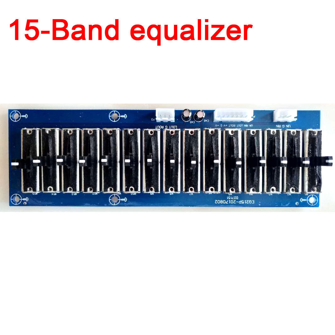 Details about Dual Channel 15 Band EQ Equalizer Stereo Preamp Board Audio  Tone Adjustable New