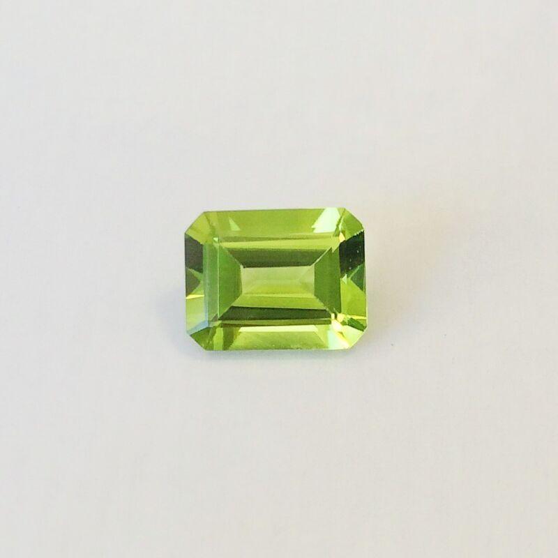 Natural 7 x 5 - 9 x 7 Emerald Cut Loose Peridot Gemstone