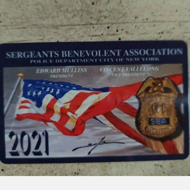 Nypd 2021 **SIGNED** SBA CARD Not Pba NEW! Last One!