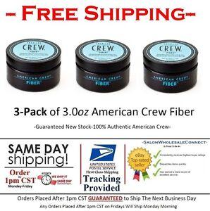American Crew Fiber 3oz 3pk Bundle Free Same Day Shipping By 1pm CST