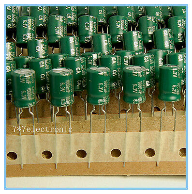 20pcs 1000uf 6.3v Sanyo Radial Electrolytic Capacitors Ca 6.3v1000uf 8x12mm