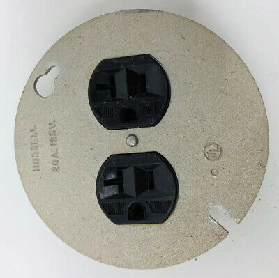 Hubbell Receptacle Outlet 20a 125v Circular Vintage Brown
