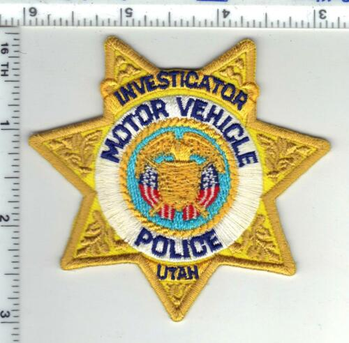 Motor Vehicle Inspector (Utah) Shirt/Jacket Patch from the 1980