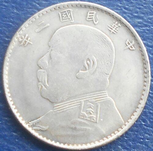 """** Forgery ** of Year 3 1914 China """"Fat Man"""" 20 Cents Yuan Shikai Nice Grade 819"""
