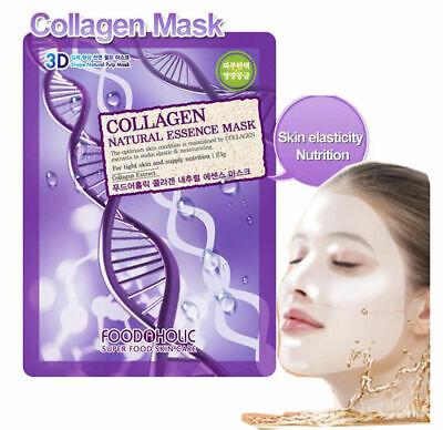 Food A Holic - 3D Shape Collagen Skin Care Pulp Mask 23g 1EA
