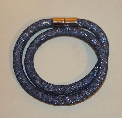 Swarovski Crystal Jewelry Stardust Blue Double Bracelet In Box 5184173