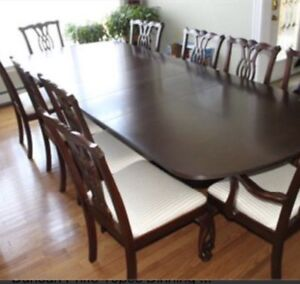 Mahogany Dinning Set   Formal 10 chairs