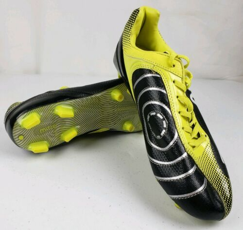 MENS MITRE  SOCCER CLEATS SHOES 6.5 BLACK YELLOW