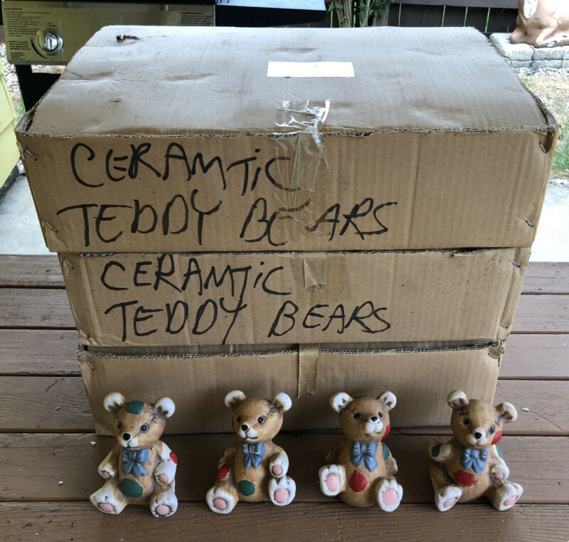 Wholesale Job Lot Of 58 Assorted Ceramic Teddy Bears