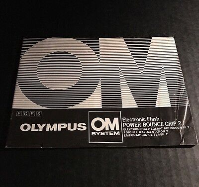 Olympus OM Camera Electronic Flash POWER BOUNCE GRIP 2 - Instructions Manual