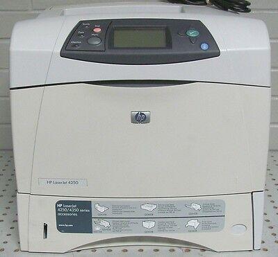 Hp B&w Laserjet (HP LaserJet 4250 A4 Mono B/W 1200 x 1200 dpi 45 PPM Laser Printer Parallel USB)