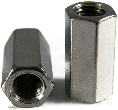 Stainless Steel Coupling Nuts Threaded Rod Unc 38-16 X 12 X 1-18 Qty 10