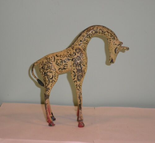 Rare Vintage Bronze Giraffe Austria cold painted sculpture figurine heavy 8""