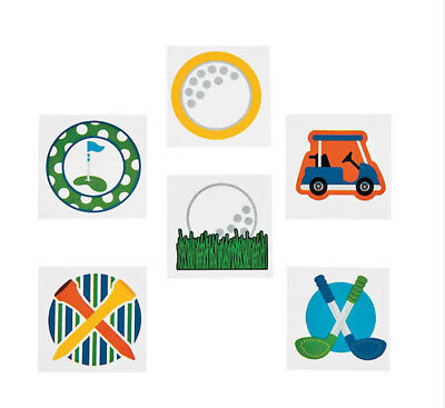 Golf Theme Party (12 Temporary Tattoos Golf Theme Kids Party Favor 1.5