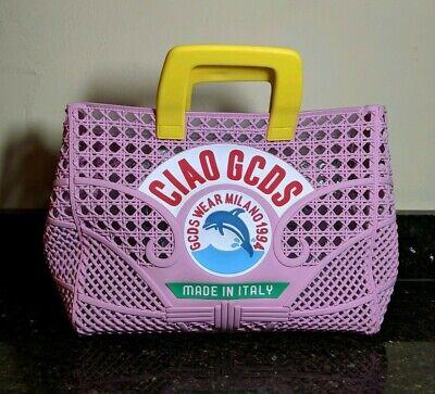 GCDS Ciao Perforated Pink Tote Bag Handbag