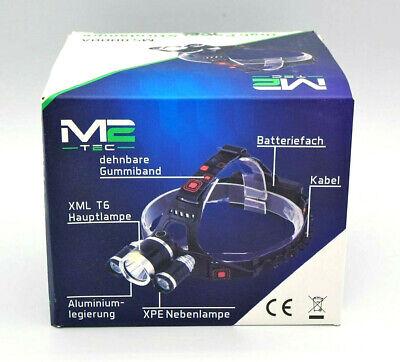 *Premium* High Power LED Stirnlampe 12000 LM inkl. 2 Akku Kopflampe sehr hell !! - Premium Power Akku
