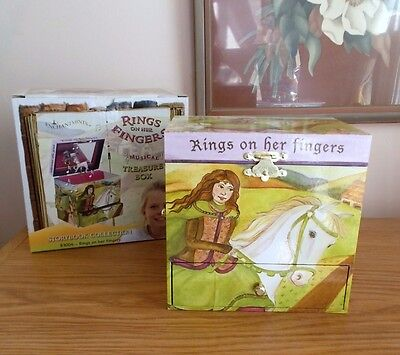 Music Treasure Box - ENCHANTMENTS STORYBOOK TREASURE MUSIC BOX TWIRLING HORSE PLAYS GREENSLEEVES NEW