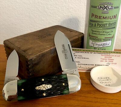 GEC NORTHFIELD UN-X-LD TRACTOR GREEN 362208 SUNFISH KNIFE #32 of 50 MADE .99 NR