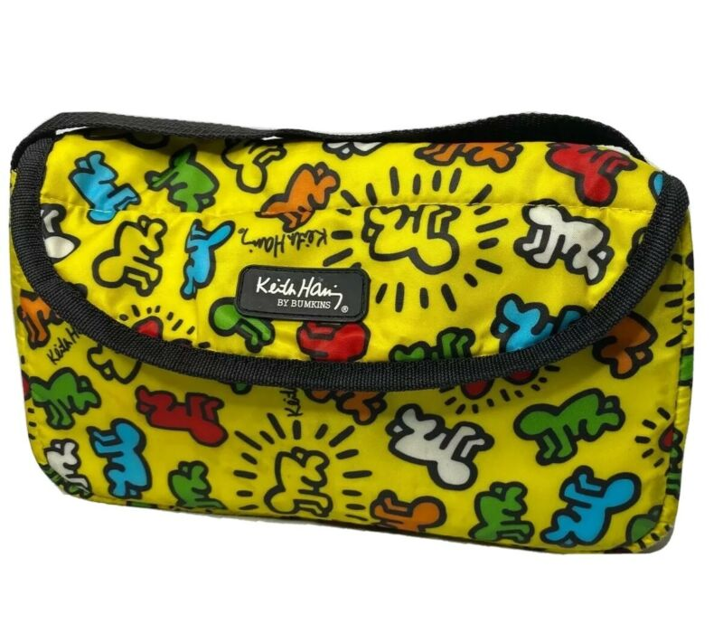 Keith Haring Bumkins Bag Travel Case Pouch Organized Nylon Pop Art RARE