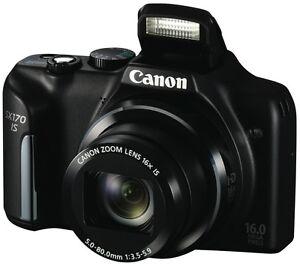 NEW Canon PowerShot SX170IS Black Digital Camera SX170ISBK