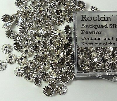 100 Bead Caps 8x3mm Cone for 6mm to 12mm Beads Antiqued Silver Cast Pewter