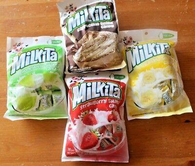 Mikita Chewy Shake Candy - 4 Flavors (Strawberry, Banana, Honeydew, Cappuccino)