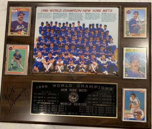 1986 Mets World Series Plaque Autographed By Keith Hernandez - $12.99