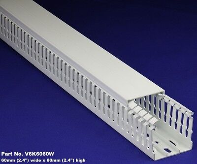 12 Sets - 2x2x2m White High Density Premium Wiring Ducts Covers - Ulcsace