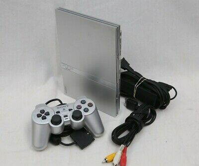 Sony Playstation 2 Silver Slim SCPH-79001 Tested No Memory Card